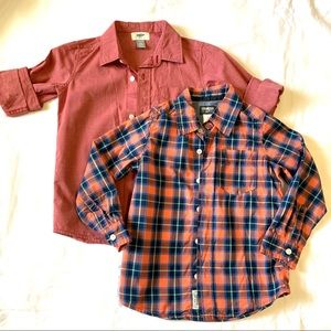 Other - 2 boys long sleeve button shirts